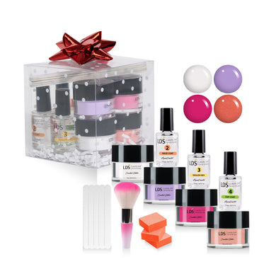 Trial Color Dip Kit: 5 Mini Files & 3 Buffers, 1 Mini Brush, 3 Dipping Powder Essentials, LDS10,12,114,CLEAR 0.5oz