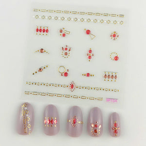 3D Laser Bronzing Nail Stickers SP154