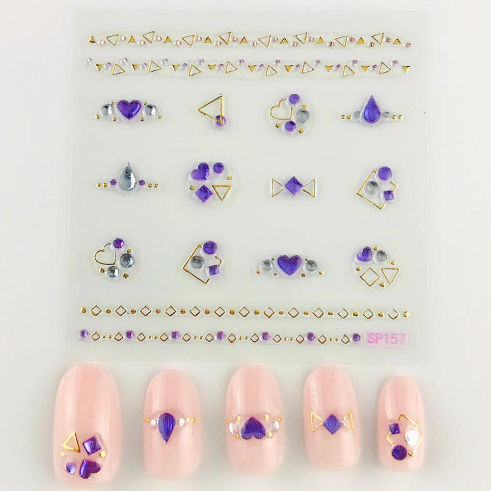 3D Laser Bronzing Nail Stickers SP157