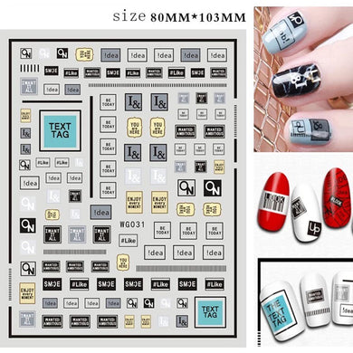 Valentine Nail Sticker 121