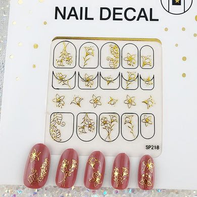 3D Laser Bronzing Nail Stickers SP218