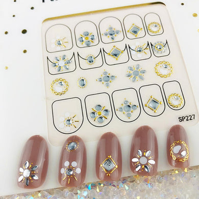 3D Laser Bronzing Nail Stickers SP227