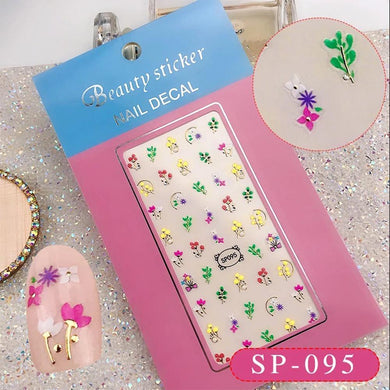 3D Laser Bronzing Nail Stickers SP095