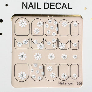 3D Christmas Nail Art Decal Stickers - 596