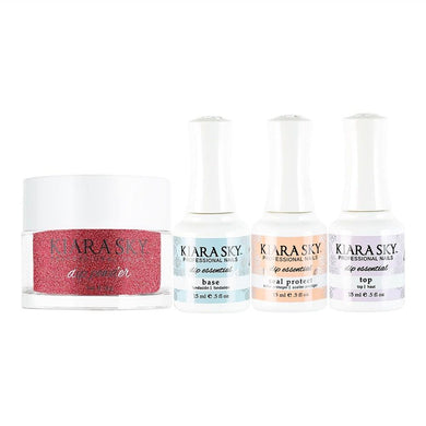 Kiara Sky - Base, Top, Sealer Protect, Dip Powder Combo - 427 Rage The Night Away