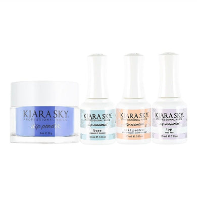 Kiara Sky - Base, Top, Sealer Protect, Dip Powder Combo - 447 Take Me To Paradise