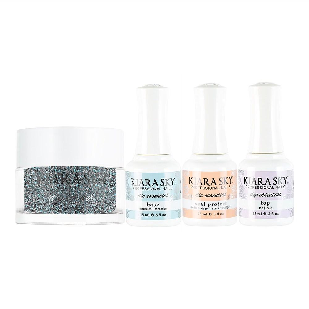Kiara Sky - Base, Top, Sealer Protect, Dip Powder Combo - 458 Vandalism