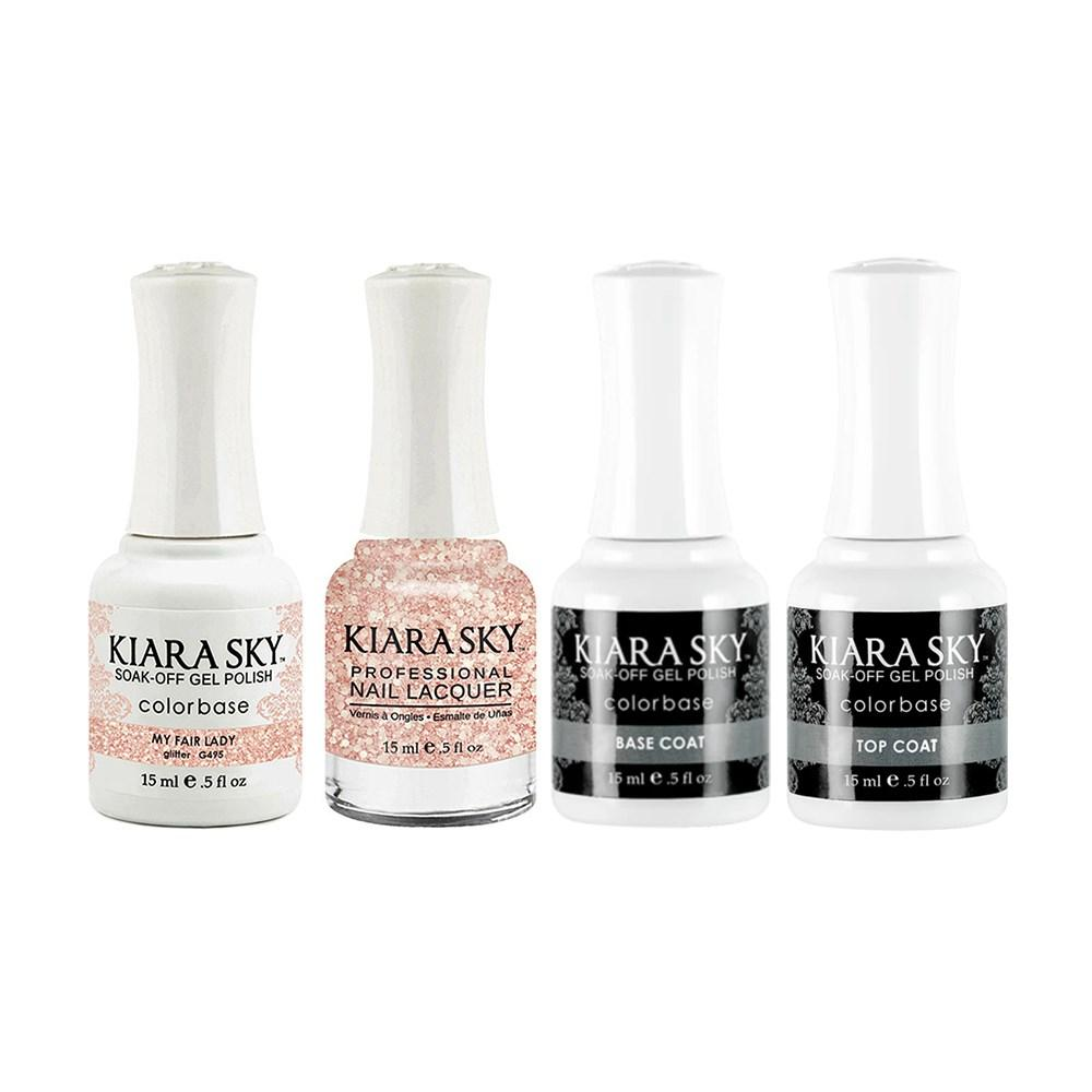 Kiara Sky - Base, Top, Gel & Lacquer Combo - 495 My Fair Lady
