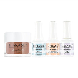 Kiara Sky - Base, Top, Sealer Protect, Dip Powder Combo - 611 Un-Bare-Able