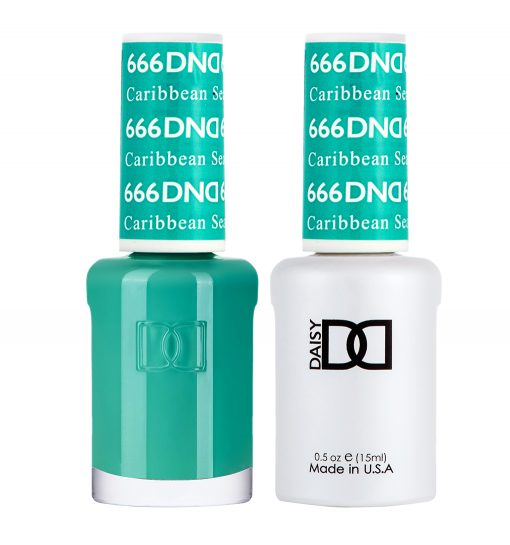 DND 666 Caribbean Sea - Gel & Matching Polish Set - DND Gel & Lacquer