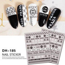 Load image into Gallery viewer, 3D Nail Sticker DH185