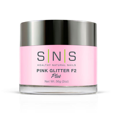 SNS Pink Glitter F2 Dipping Power Pink & White - 2 Oz