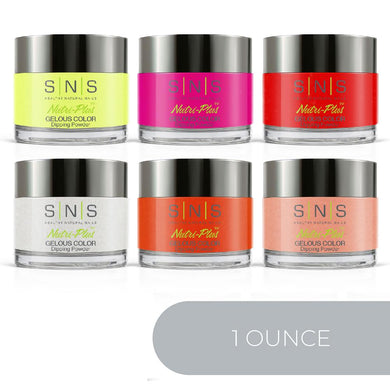 SNS Dipping Powder Color New Kit - 1oz/ea (6 Colors): HH03, 04, 20, 21, 33, 34