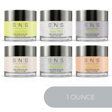 SNS Dipping Powder Color Kit - 1oz/ea (6 Colors): HH11, 15, 16, 17, 25, 35