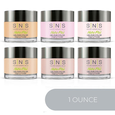 SNS Dipping Powder Color Kit - 1oz/ea (6 Colors): Nude NC01, N05, N06, NC07, N11, NC27