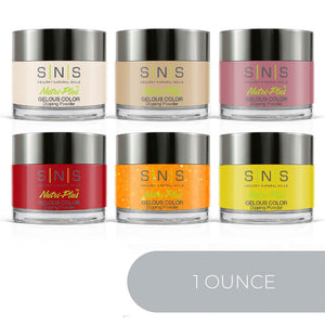 SNS Dipping Powder Color Kit - 1oz/ea (6 Colors): Wedding DW03, 05, 11, 25, 28, 34