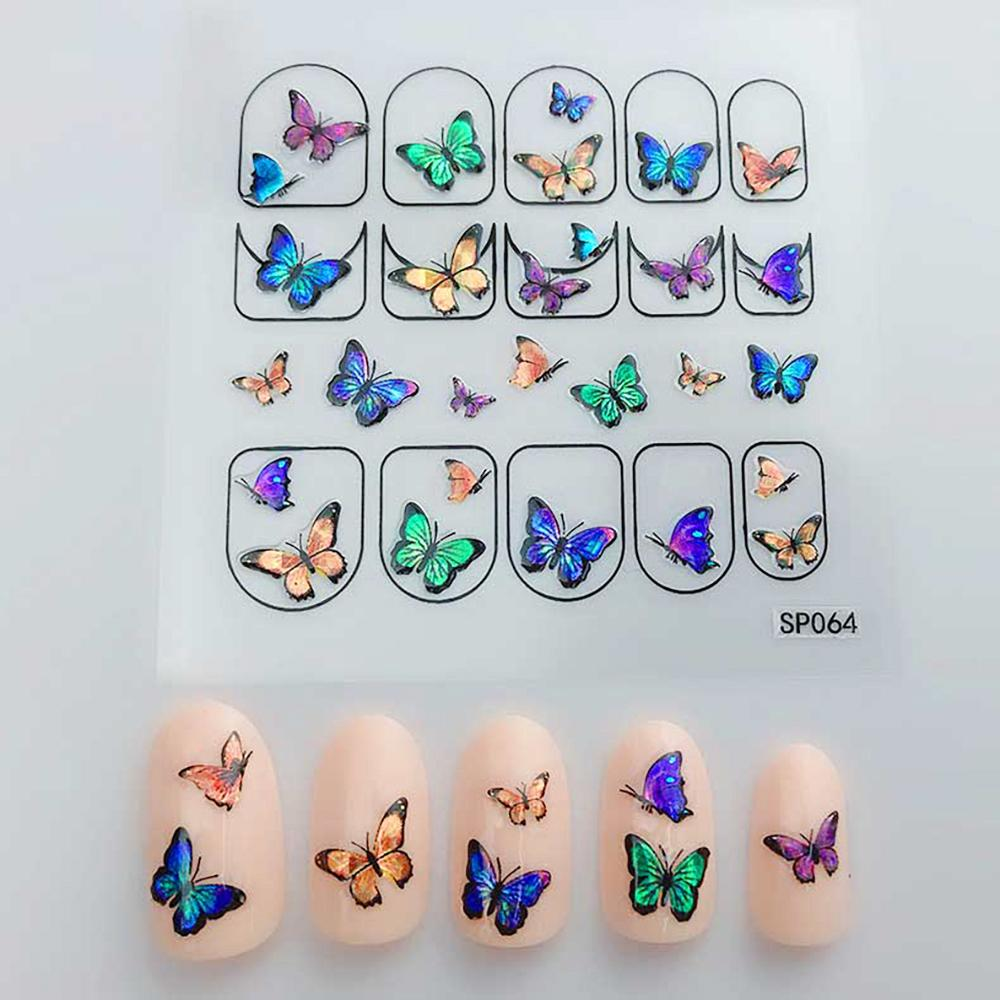 3D Laser Bronzing Nail Stickers SP064