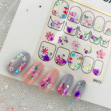 3D Laser Bronzing Nail Stickers SP073