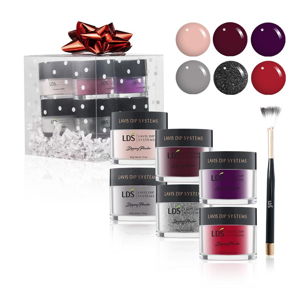LDS Holiday Gift Bundle 1: 1.5 oz - D014,065,127,137,013,046, LDS Ombre Brush