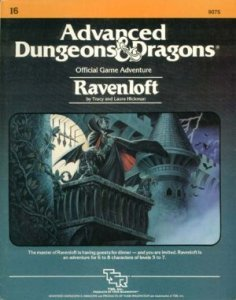 Picture of the cover of the original Ravenloft book from 1983