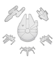 Load image into Gallery viewer, Star Wars Millennium Falcon Mirror Set