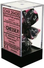 Load image into Gallery viewer, Chessex: Gemini Black-Pink w/ White - Polyhedral Dice Set (7) - CHX26430