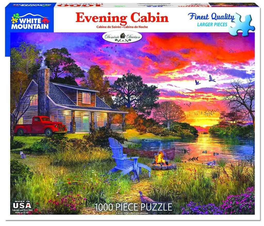 White Mountain Puzzles: Evening Cabin - 1000 Piece Puzzle