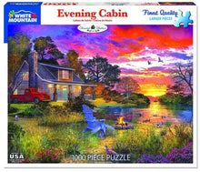 Load image into Gallery viewer, White Mountain Puzzles: Evening Cabin - 1000 Piece Puzzle