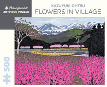 Load image into Gallery viewer, Pomegranate ArtPiece Puzzles: Kazuyuki Ohtsu - Flowers in Village - 500 Piece Puzzle