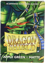 Load image into Gallery viewer, Dragon Shield: Deck Protector Sleeves - Japanese Size Matte Apple Green (60)