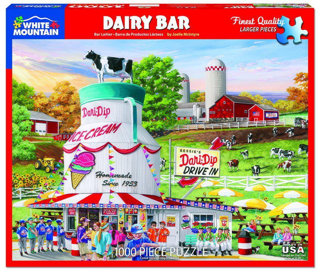 White Mountain Puzzles: Dairy Bar - 1000 Piece Puzzle