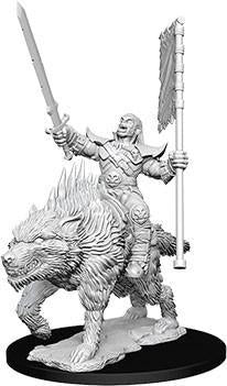 Pathfinder Deepcuts Miniatures - Orc on Dire Wolf - Unpainted