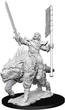 Load image into Gallery viewer, Pathfinder Deepcuts Miniatures - Orc on Dire Wolf - Unpainted