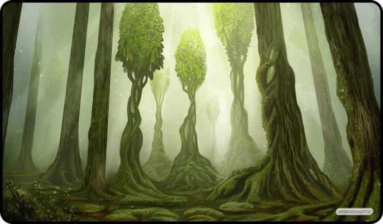 "GamerMats: 'The Magic Forest' 14""x24""&1/8"" Stitched Gaming Playmat"