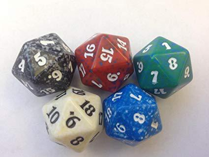 D20 Spindown Die for Magic the Gathering