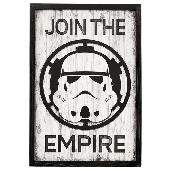Join the Empire Framed Wooden Wall Hang