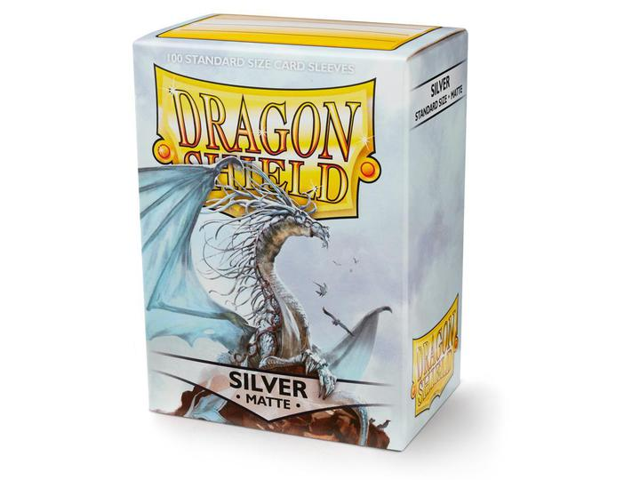 Dragon Shield: Deck Protector Sleeves - Standard Size Matte Silver (100)