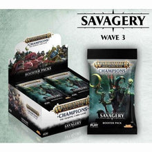 Load image into Gallery viewer, Warhammer Age of Sigmar Champions TCG: Savagery Booster Pack