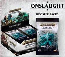 Load image into Gallery viewer, Warhammer Age of Sigmar Champions TCG: Onslaught Booster Box