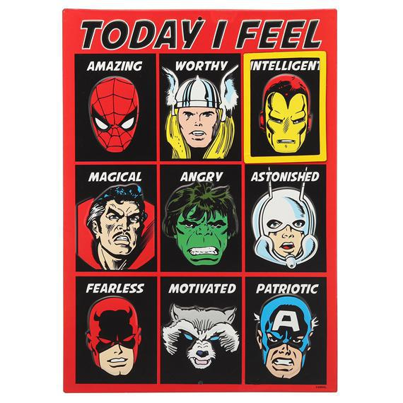 Today I Feel Super Hero Chart Wall Hang w/ Magnet
