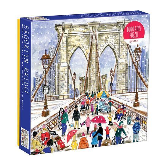 Galison Puzzles: Brookly Bridge by Michael Storrings - 1000 Piece Puzzle
