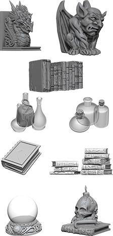 WizKids Deep Cuts Miniatures - Wizard's Room - Unpainted (WZK73364)