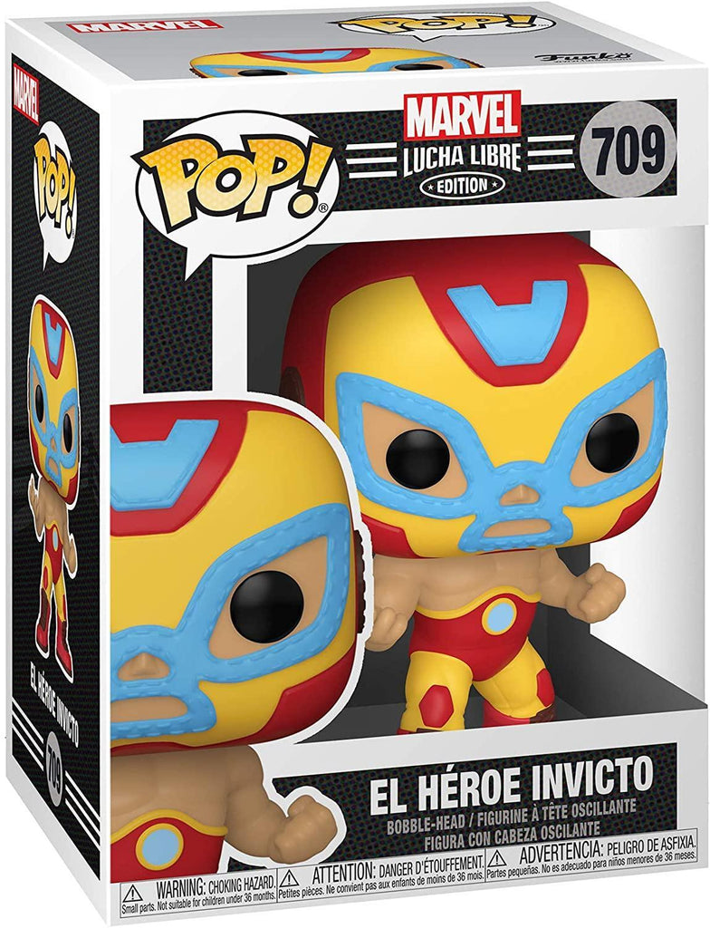 "Funko Pop! Marvel: Iron Man ""El Héroe Invicto"" - Lucha Libre Edition (#709)"