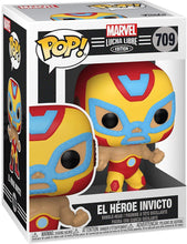 "Load image into Gallery viewer, Funko Pop! Marvel: Iron Man ""El Héroe Invicto"" - Lucha Libre Edition (#709)"