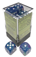 Load image into Gallery viewer, Chessex: Festive Waterlily w/ White - 16mm d6 Dice Set (12) - CHX27746