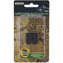Load image into Gallery viewer, Pathfinder Deep Cuts Miniatures - Black 25mm Round Base (15) (WZK73593)