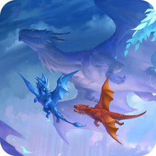 Load image into Gallery viewer, GamerMats: Dragon Art Coaster - 'Flying Lessons'