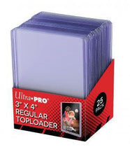 "Load image into Gallery viewer, Ultra Pro: Regular Toploader - 3"" X 4"" (25)"