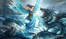 "Load image into Gallery viewer, GamerMats: 'Aquatic Angel' 14""x24""&1/8"" Stitched Gaming Playmat"