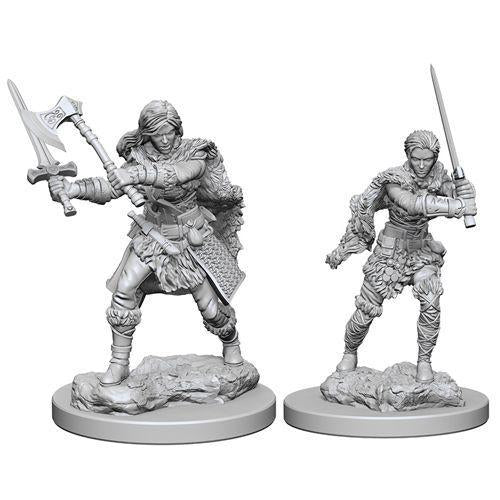 D&D Nolzur's Marvelous Miniatures - Human Female Barbarian - Unpainted (WZK72644)